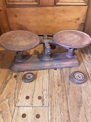 antique Fairbanks Standard counter scale 2 weights Orig paint