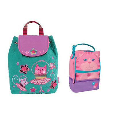 Stephen Joseph Lunch Pals & Quilted Backpack Cat & Cat/Ballet Unisex Kids Lunch
