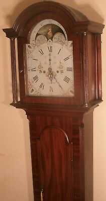 "Antique Oak  Brass Dial "" York "" Automation  Longcase / Grandfather Clock"