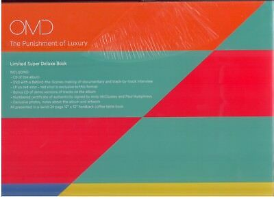 OMD - The Punishment Of Luxury-Lim.Super Deluxe Book - Red Vinyl - CD - DVD