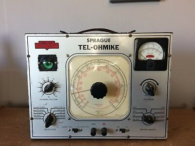 Vintage Sprague Tel-Ohmike TO-3 Capacitor Analyzer Tester WORKING Recapped