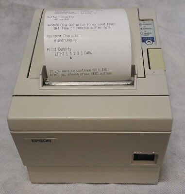 Epson TM-T88III M129C Thermal Printer Serial Receipt Used w/ Power Adapter