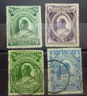 NIGER COAST British Colonies Old Stamps - Used / Mint NG - r45e5461