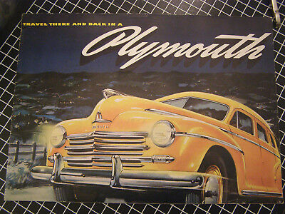 Vintage 12 Page 1948 Plymouth Automobile Sales Brochure Complete .99 Start