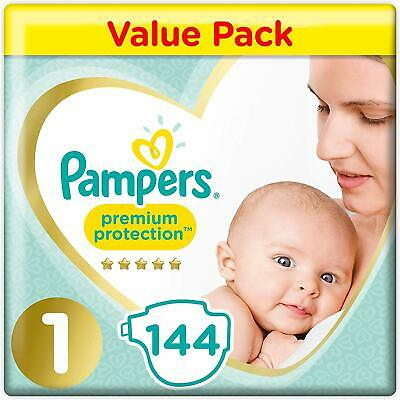 Pampers New Born Baby Size 1 Nappies Jumbo Pack of 96 2-5 kg Premium Protection