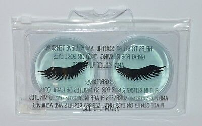 Bath & Body Works Blue Eyelashes Gel Eye Mask Cover Cooling Soothing Puffiness