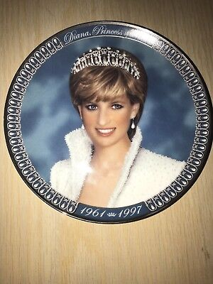 Princess Diana Tribute Franklin Mint Limited Edition Collectors Decorative Plate