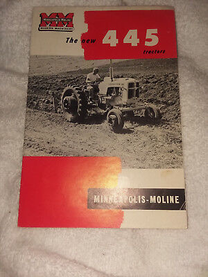 Minneapolis Moline MODERN MACHINERY  Tractor sales brochure 445 FOLD OUT