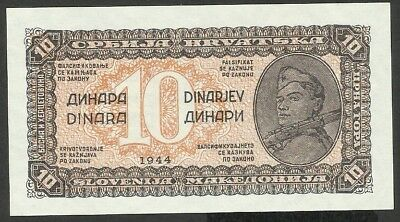 Yugoslavia P 50 - 10 Dinara 1944 - in UNC condition (rb)