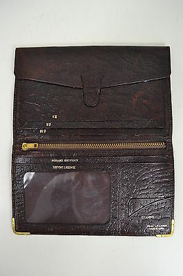 VINTAGE 1970s ENGLISH MADE BIFOLD BROWN LEATHER WALLET