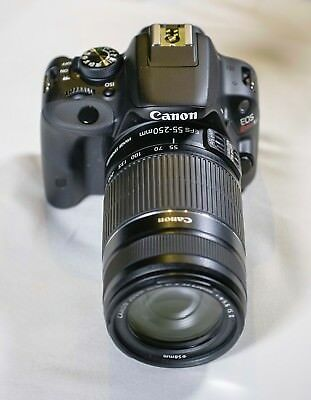 Canon EOS Rebel SL1 with EFS 55-250mm f4-5.6 telephoto zoom stabilized lens