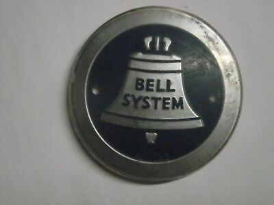 "Bell System Logo 2 7/16"" Plastic which was on a computer cabinet.  Vintage Old"