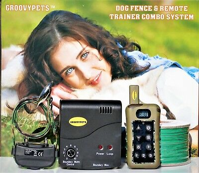 Remote Dog Training Shock Collar Trainer &  Underground Containment Fence System