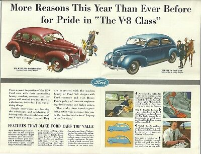 1939 FORD V8 Automobile Brochure Mailer COLBY WI H. H. Motor Co. WISCONSIN