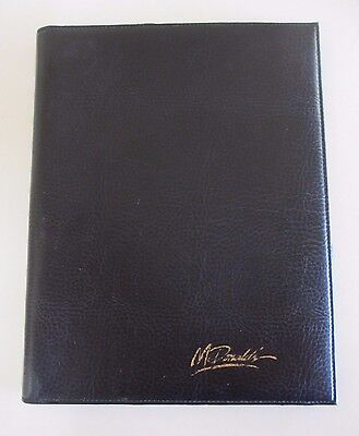 McDonald's Branded Management Writing Pad Folder - Black - 1990s
