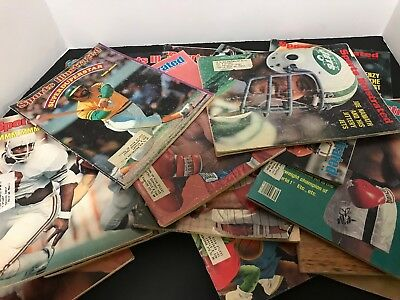 Vintage Lot Of  16 Sports Illustrated Magazines 1970's 1980's ,football,boxing,