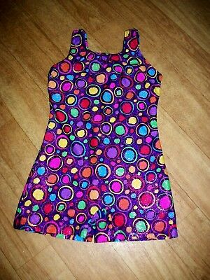 Basic Moves  Sz. 6-7 Multicolored Sparkle Circle Gymnastic/Dance Leotard  VGC