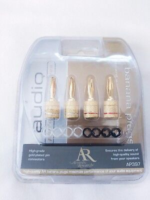 AR Acoustic Research Performance Banana Plug Connectors AP397 speaker wire gold