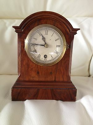 Antique Lenzkirch Timepiece Wooden Clock With Beautiful Side Details