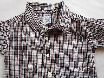 Toddler Boy 12-18 month Red Blue plaid short sleeve dress shirt GYMBOREE Spring
