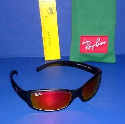 Junior RAY BAN Sunglasses - Red Reflective Lens with Pouch