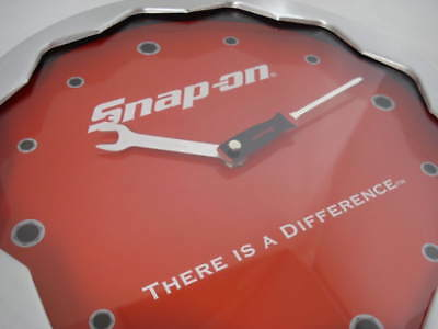"Snap-On Tools 12"" Round Wall Clock New"