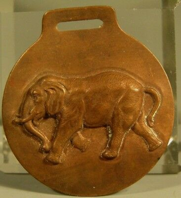 Very Fine Old Relief Brass Elephant Medallion ca. 19-20th century