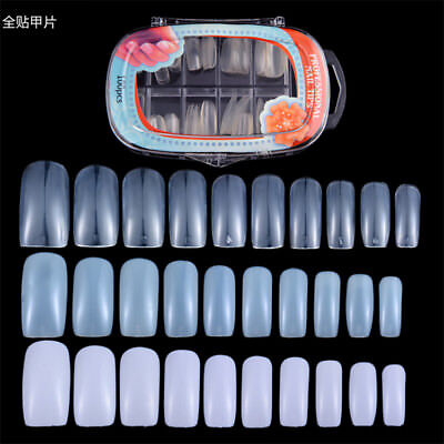 100PCS French full cover false Nail Tips Acrylic UV Gel False Nails Art Tools