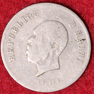 1906 Republic Of Haiti 10 Centimes General Pierre Nord Alexis World Coin