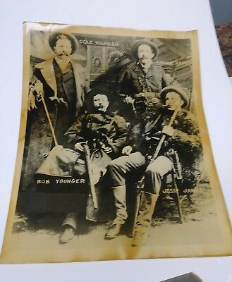 Early Antique Jesse James, Younger Gang Outlaw Photo 8x10 dates 1890-1906