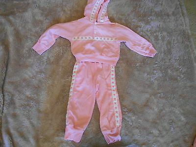 Vintage Two Piece Outfit With Hood For Girls