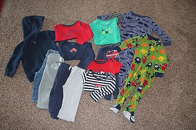 Baby Boy 14 piece Clothing Lot #5  -Size 12 months-