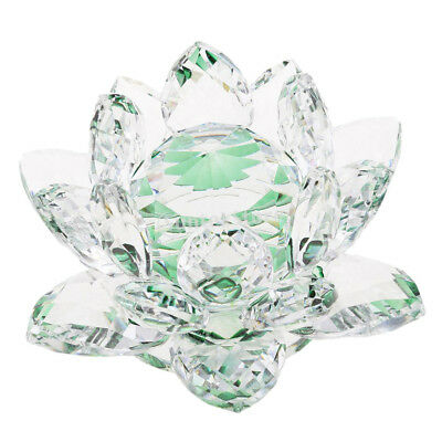 Reflection Crystal Lotus Flower with Gift Box 4-Inch Home Wedding Green