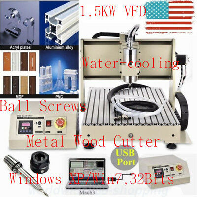 USB 3axis 6040 1500W cnc router engraver METAL engraving milling carving machine