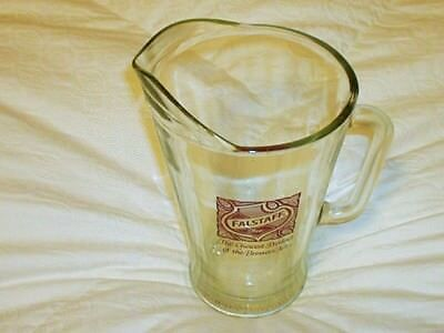 """Vintage Falstaff Beer Glass Pitcher """"The Choicest Product of the Brewer's Art"""""""