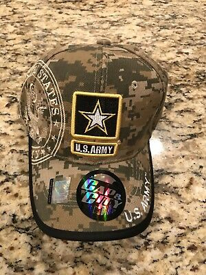 7ebbfc82612 Us Army Strong Licensed Seal Military Logo Star Hat Cap Digital Camo  Camouflage