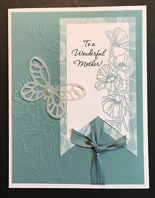 Handmade Exquisite Fancy Floral Butterfly Mothers Birthday Card Mother Mom Mum