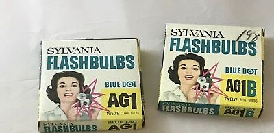 Sylvania Flashbulbs Blue and Clear 11 Blue 5 Clear in boxes