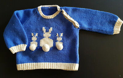 VINTAGE 1940's - 50's BABY'S HAND KNIT  ~  COLLECTORS, REBORN DOLLS, PHOTO PROP