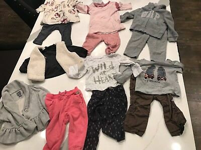 Toddler Girl Baby Gap Old Navy Lot Of 14 Pieces EUC Outfits Top Size 12-18 Month