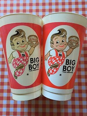 Set Of 2 Vintage Elby's Big Boy 16 oz. Cups From The 1970s