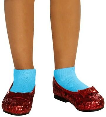 The Wizard of Oz Ruby Child Girls Slippers Shoes Fancy Dress Costume Accessory