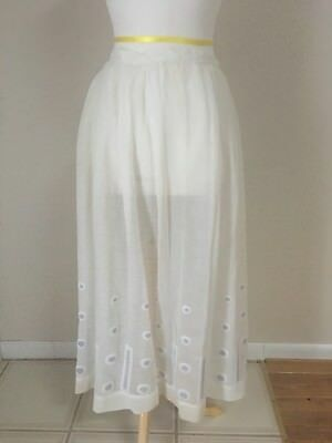 1900's  VINTAGE EDWARDIAN WHITE COTTON SKIRT- WEARABLE!!!!