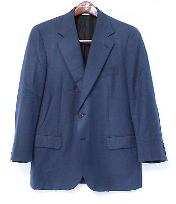 Brioni Neiman Marcus Pure Cashmere Black Blue Windowpane Men's 42C Sport Coat