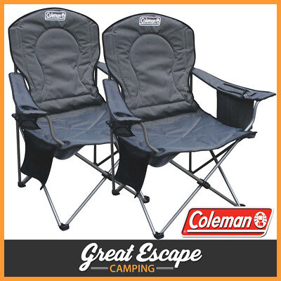 2x Coleman Deluxe Cooler Chairs