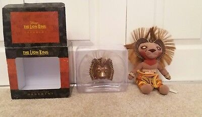 Disney The Lion King Special Edition Ornament And Simba Plush **Rare***