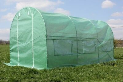 PALM SPRINGS 7 x 15ft Polytunnel Walk in Greenhouse-Strong Anti-Rust Frame