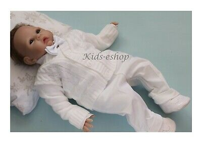 Baby Boy White Outfit Smart Set Cardigan Wedding Suit Christening Baptism