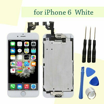 White Front LCD Touch Screen Digitizer Assembly Home Button Camera for iPhone 6