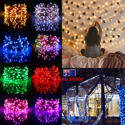 20M Waterproof LED Copper Wire Fairy String Light Battery Powered Party Decor
